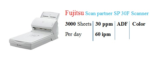 Fujistu ScanSnap SP30F Scanner