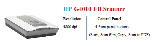 HP G4010-FB Scanner